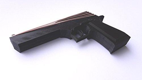 Desert Eagle 3D printed rubber band gun for KIDs, BLACK Children toy gift pistol