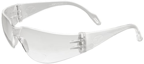 (Encon Wraparound Veratti 2000 Readers Safety Glasses, Clear Lens, Clear Frame (Pack of 1))