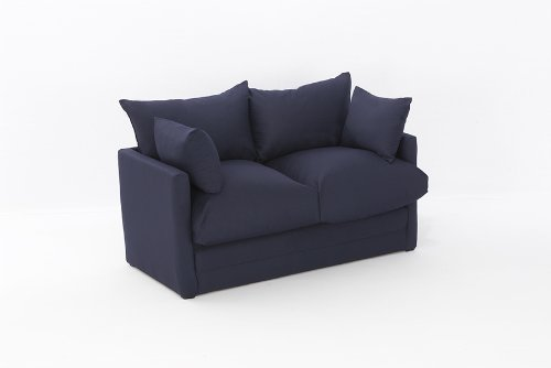 Leanne Sofa Bed in NAVY Cotton Drill Comfy Living
