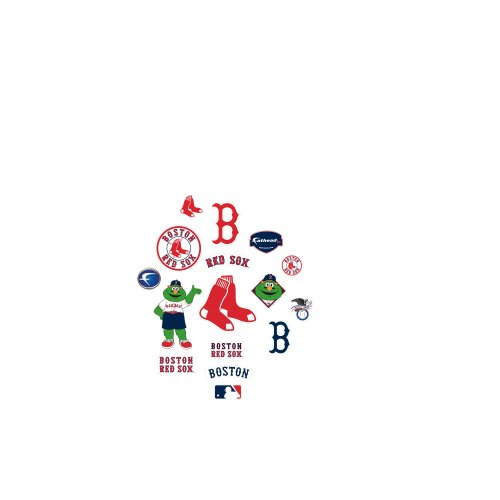 MLB Boston Red Sox Team Logo Assortment Fathead Jr. Wall Decal