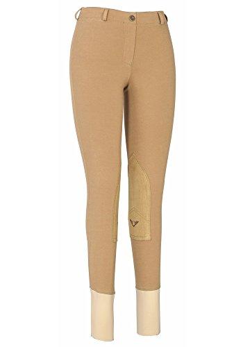 TuffRider Women's Cotton Lowrise Pull-On Breeches, Sand, 28