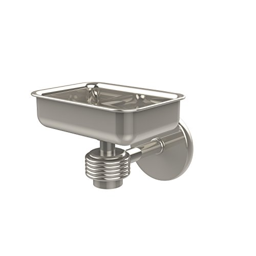 - Allied Brass 7132G-PNI Satellite Orbit One Wall Mounted Soap Dish with Groovy Accents Polished Nickel