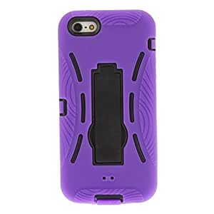 Three in One Hard Case with Outter Silica Gel Cover and Stand for iPhone 5/5S by ruishername