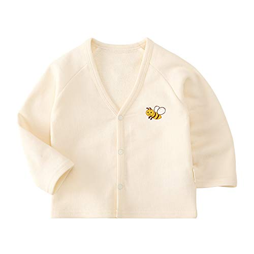 pureborn Baby Unisex Cardigan Sweater Outfit Cute Cartoon Ivory Bees 1224M