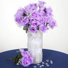 84 Lavender Organza Petals Silk Rose Buds Wedding Flowers Bouquets - Flower Wedding Organza Rose