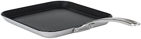 Viking 4013-3N31 Contemporary 3-Ply Stainless Steel Nonstick Grill Pan, 11 Inch
