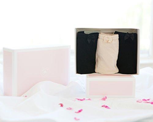 Hesta Women's Organic Cotton Period Menstrual Leak proof Sanitary Protective Briefs Panties / 3Pack