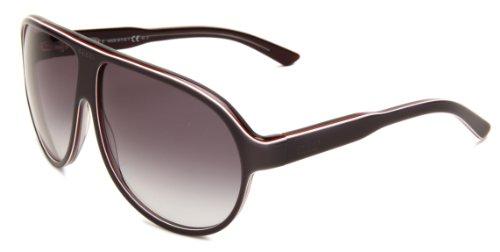 Gucci Men's 1628/S Aviator Sunglasses,Grey,white & Brick Frame/Grey Gradient Lens,One - Gucci White Mens Sunglasses