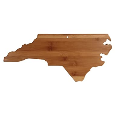 Totally Bamboo State Cutting & Serving Board, North Carolina, 100% Bamboo Board for Cooking and Entertaining
