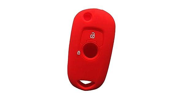 ZFLL Cubierta de la Llave del Coche Funda Funda con Tapa de Llave para Opel Vauxhall Astra K Corsa E 2015 2016 2017 2018 2019 Gel de s/ílice Flip Key Cover Cap Holder Shell Protector Rojo