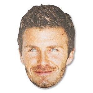 David Beckham Celebrity Cardboard Mask - Single