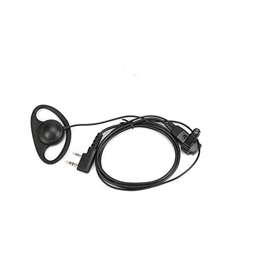 Fornateu 2Pin D-Shape Universal Interphone Earpiece Walkie Talkie Earphone PTT Single Ear Hook For Baofeng Kenwood Puxing HYT