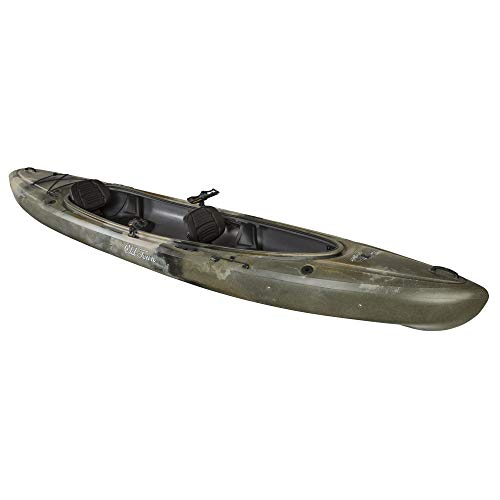 Old Town Twin Heron Angler Tandem Kayak, Brown Camo, 13 Feet 6 Inches