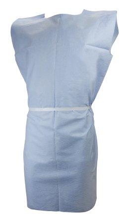 McKesson Blue Exam Gown, Pediatric - 50 Per Case