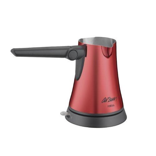 ARZUM MIRRA 1st Je sais quoi Renowned Turkish Greek Coffee Maker Briki Electric Machine Briki Jazwa Stainless Steel RED