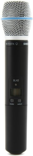 Shure SLX2/BETA87A Handheld Transmitter with BETA 87A Microphone, J3 (Vocal Microphone Handheld Supercardioid)