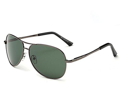 hombre de conductor gafas la espejo gafas sol de sol Gun sol afluencia sol conducir Hombres Dark masculino polarizador conducir de Box de Gafas personas Green de yurt gafas hombres qTIUaa