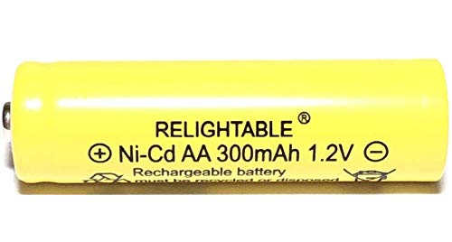 (RELIGHTABLE 300mAh AA NiCd 1.2v Rechargeable Batteries Garden Solar Ni-Cd Light LED K (Pack of)