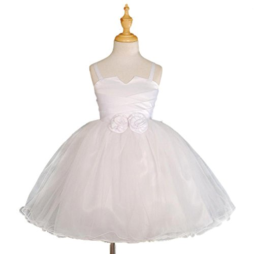 Lito Angels Baby Girls' Wedding Flower Girls Dress Pageant Party Formal Occasion Size 18-24 Months White (Party Dress Angel)