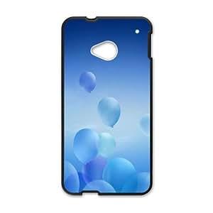 Blue Art HTC One M7 Cell Phone Case Black AMS0663019