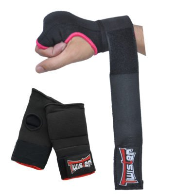 Wear Hand Wraps - Twister Boxing Inner Mitts Hand Wraps MMA Fist Protector Bandages (S/M)