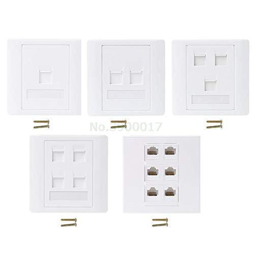 Ants-Store - 86 Type Computer Socket Panel CAT5E Network Module RJ45 Cable Interface Outlet
