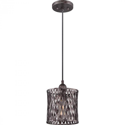 (Quoizel CKHN1508SI Harlan with Sierra Black Finish and  Cord Hung Mini Pendant,  Black)