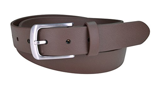 Indestructible Vegan Belt, Genuine Non Leather Belt with Italian Belt Buckle, Dress Belt for Men Made with Environmentally Friendly Material Fused with Polyester, Truth Sparrow (34, Brown) (Belts Vegan Womens)