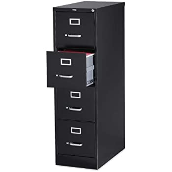Amazon.com: Lorell 4-Drawer Vertical File with Lock, 15 by 25 by ...
