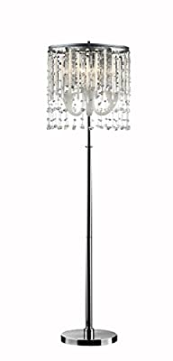OK Lighting Fairy Mist Crystal Floor Lamp