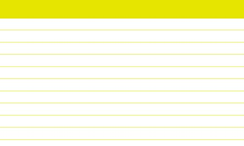 DEBRADALE DESIGNS 3 x 5 Inch - Yellow Color Bar Ruled - 2,500 - Standard 110# Index Cards - Great for Flash Cards - National Exams - Art History - Bulk Packed - Made in the USA by DEBRADALE DESIGNS (Image #2)