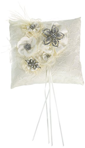 Ivy Lane Design Genevieve Ring Pillow, Ivory by Ivy Lane Design