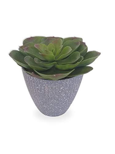 Suculenta Verde Arranjo Flor Artificial Vaso Em Polietileno