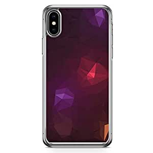 Loud Universe Case For iPhone XS Max Transparent Edge Case Red Purple Spot Geomaterical Pattern iPhone XS Max Cover
