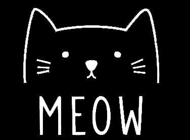 LLI Cat Meow | Decal Vinyl Sticker | Cars Trucks Vans Walls Laptop | White |5.5 x 5.2 in | LLI794