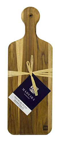 (Madeira Bread Board, Teak Edge-Grain, 17