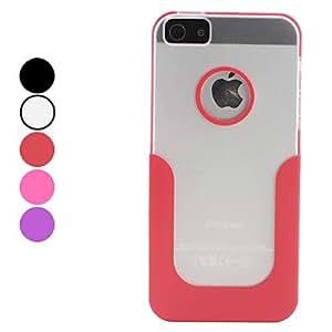 U Shape Hard Case for iPhone 5/5S (Assorted Colors) --- COLOR:Black
