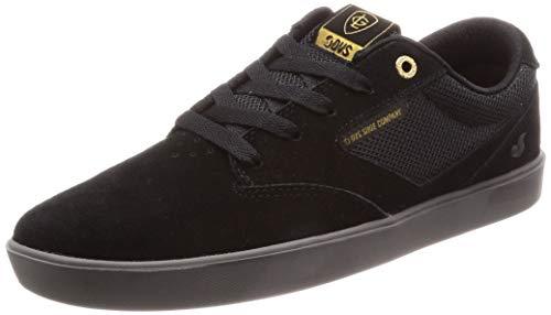 DVS Men's Pressure SC+ Skate Shoe, Black Charcoal Suede lutzka, 10 Medium US