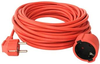 Cable alargador 50 m Schuko IP44 Cable de alimentaci/ón Jard/ín Cable V13
