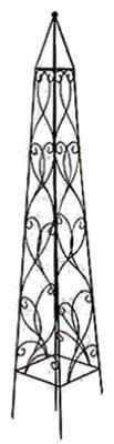 Border Concepts 72862 Wisteria Obelisk, 36-Inch, Black