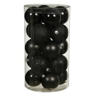 Vickerman 4 Finish Ornaments, 2.75-Inch, Black, 20-Pack