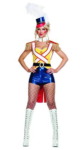 Starline Women's Sexy Toy Soldier Boyshorts Costume Set, Yellow, Medium