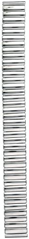 時計バンド 伸縮バンド ステンレス鋼 ミラー仕上げ 時計際幅:16・17・18mmに対応可