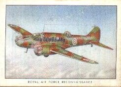 1935 Wings Cigarettes Series B (Non-Sports) card#27 RAF Reconnaissance arvo of the Grade Excellent