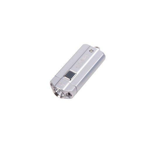 Super Bright Beam (Acebeam UC15 Keychain Flashlight Max 250/1000 Lumens Super Bright Pocket Flashlight with 3 beam colors White/Red/UV in the Mini Flashlight (Silver))
