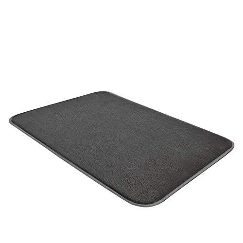 (dongzhifeng Rug Rugs Welcome Mat Door Mat Matt Indoor Matt Outdoor Corridor Mat Carpet Kitchen Absorbent Mat Entrance Slip Tapete 60100cm Gray)