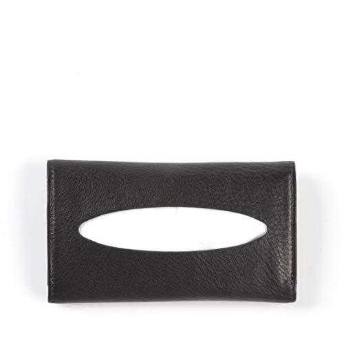 (Pocket Tissue Holder - Full Grain Leather - Black Onyx (black))
