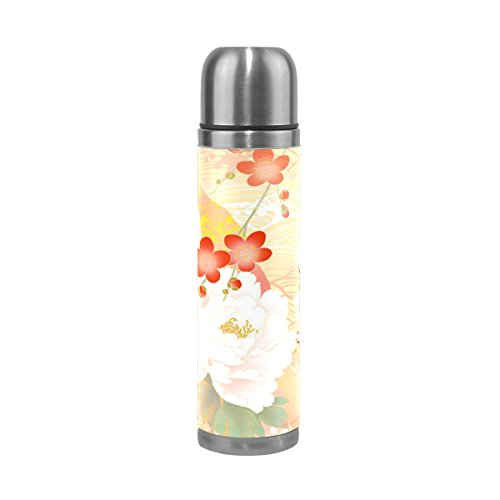 imobaby Jennifer Japanese Style Sakura Leak Proof Water Bottle Insulated Vacuum Stainless Steel Thermos by imobaby