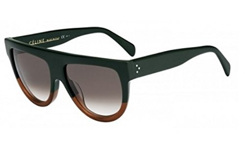 Price comparison product image Céline Sunglasses - 41026 / S / Frame: Green Brown Lens: Brown