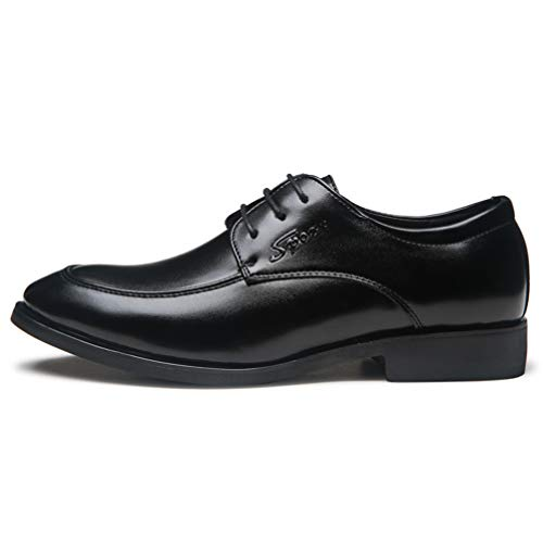 Mens Black Dress Shoes Pointed Toe Classic Formal Oxford Shoes by Phil Betty (Image #2)